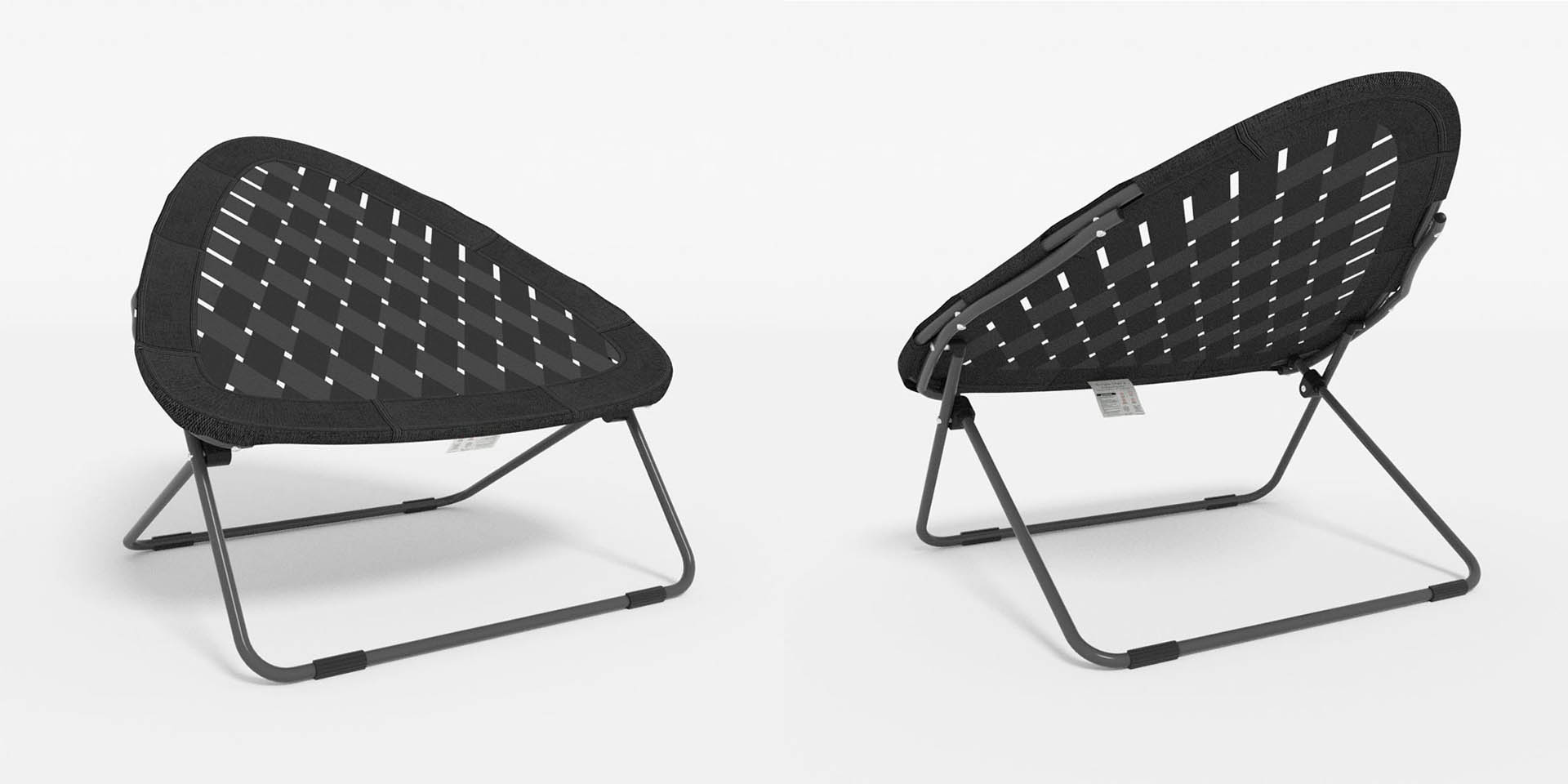 Front And Back View Of The Strap Chair